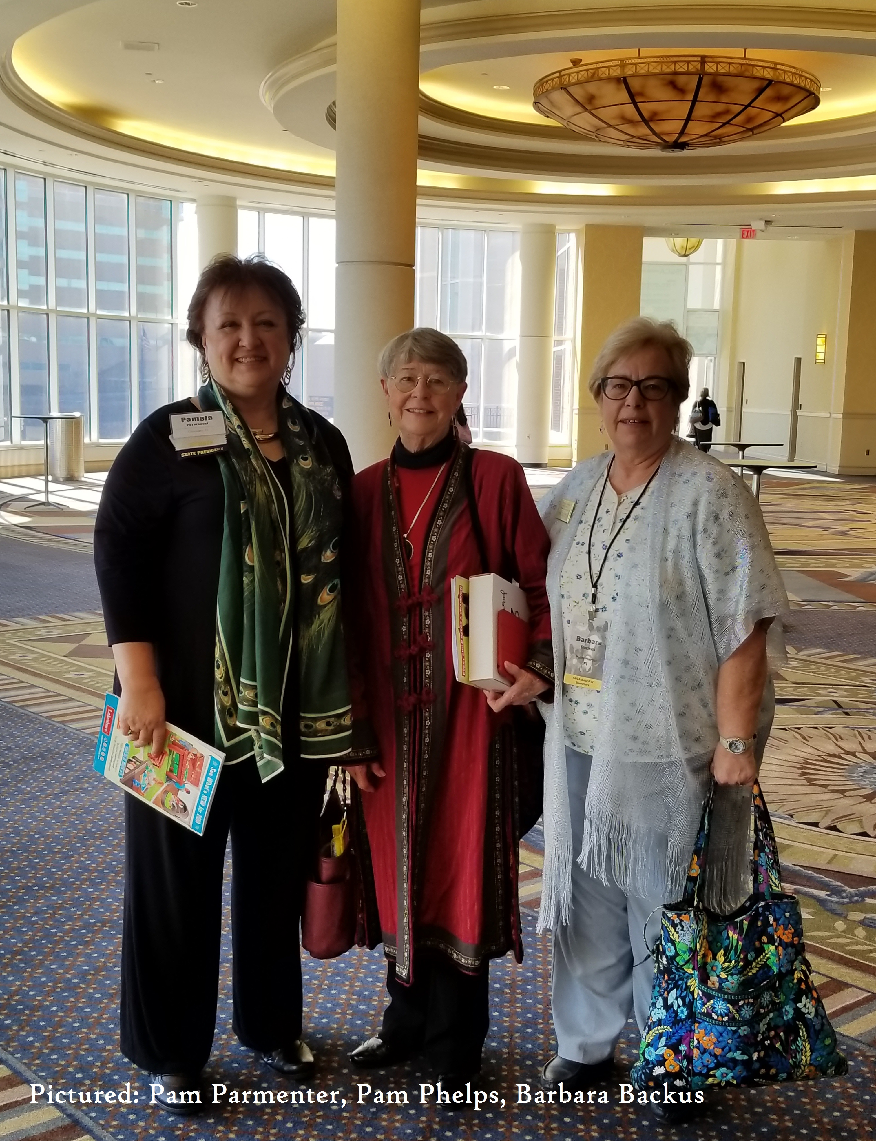 Pam Parmenter, Pam Phelps, Barbara Backus